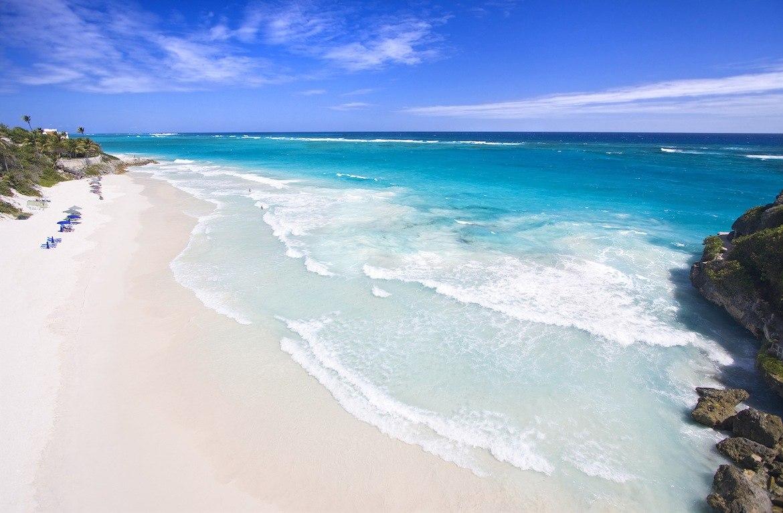 Crane Beach in Barbados