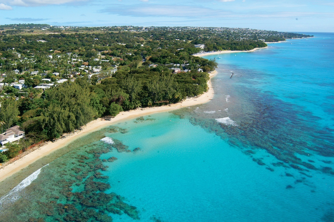 The west coast of Barbados
