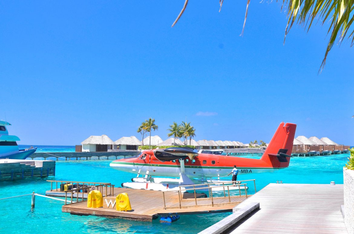 Maldavian Air Taxi in the Maldives