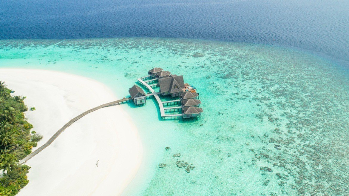 A resort in the Maldives