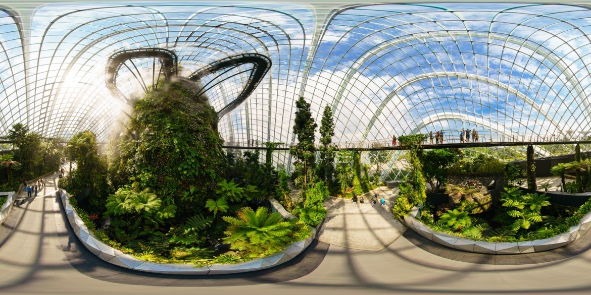 Where to go in Singapore on a stopover. Cloud Forest in Gardens by the Bay.