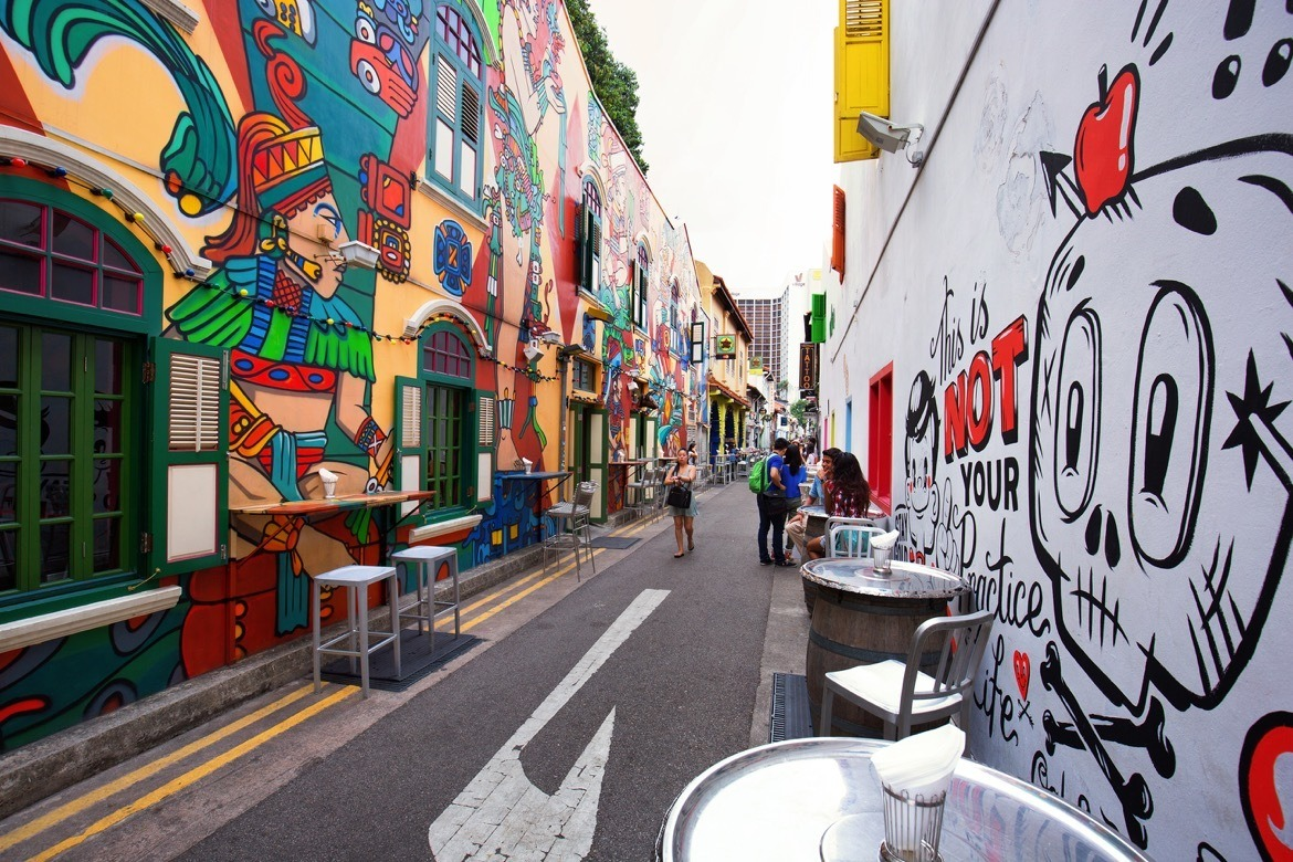 Where to go in Singapore on a stopover. Haji Lane