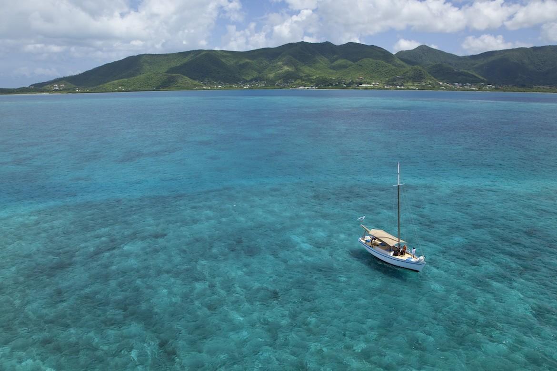 A boat in the sea in Antigua