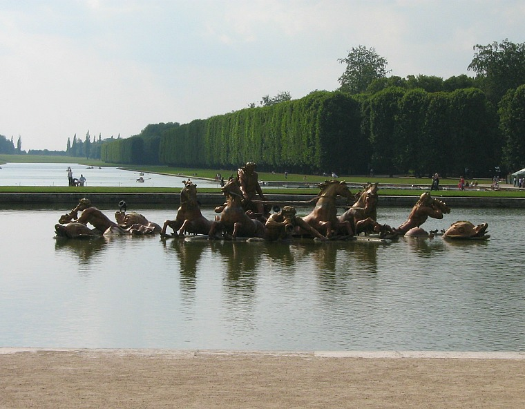 The gardens of Versailles.