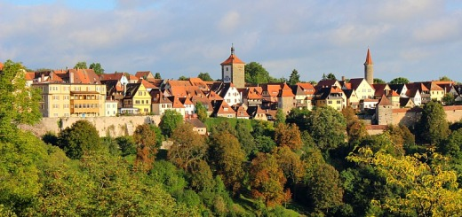 The medieval town of Rothenburg ob der Tauber.