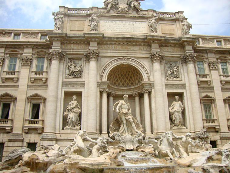 Trevi Fountain.