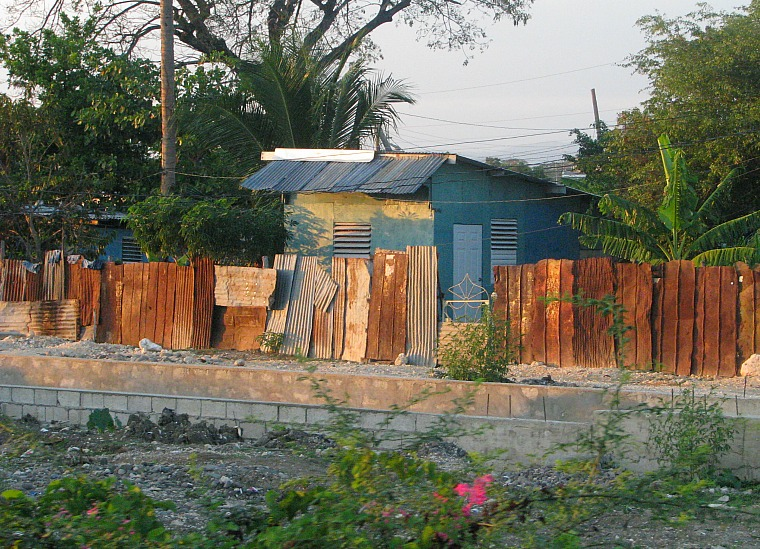 A shanty in Kingston, Jamaica.