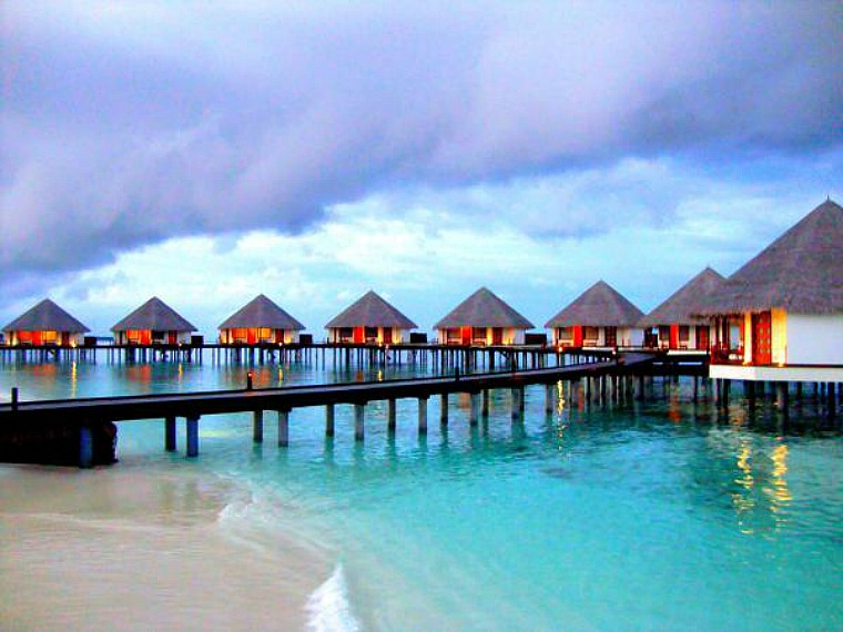 Water villas in Raa Atoll.