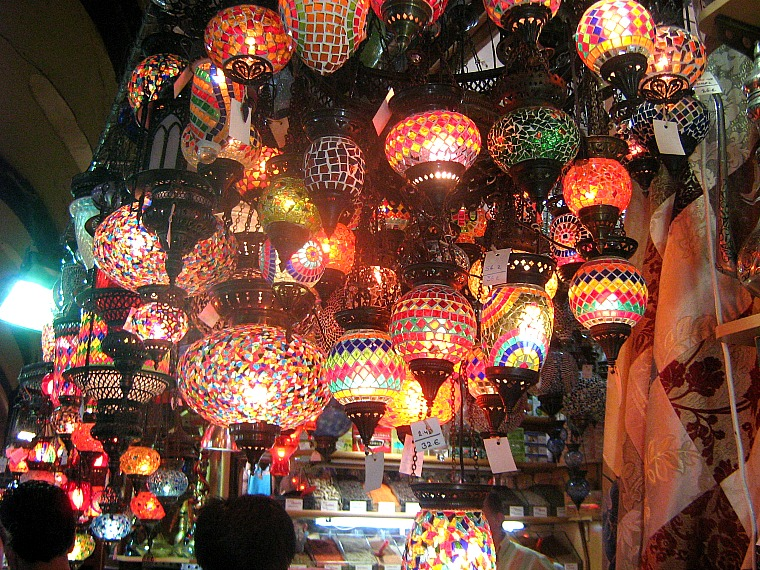 Lamps in the Grand Bazaar. istanbul turkey