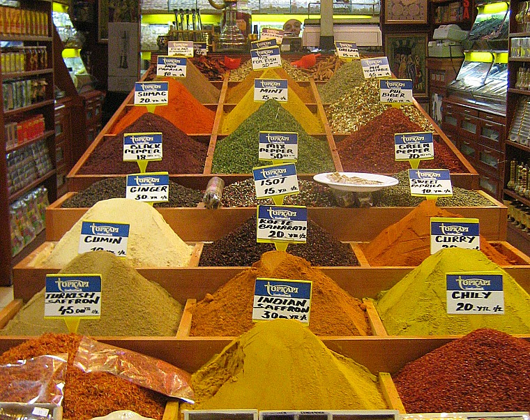 Spices in the Grand Bazaar.
