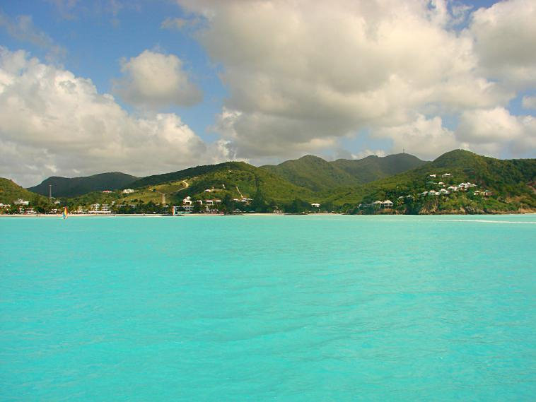 The ocean in Antigua