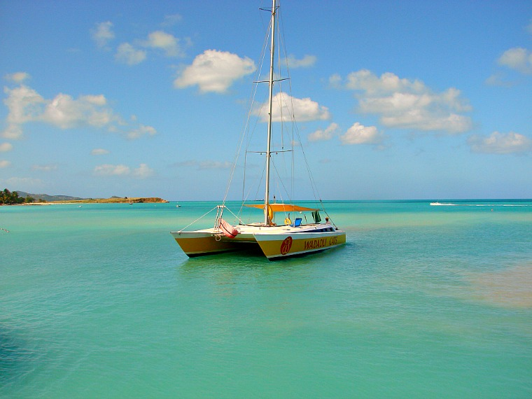 A sailboat in Antigua