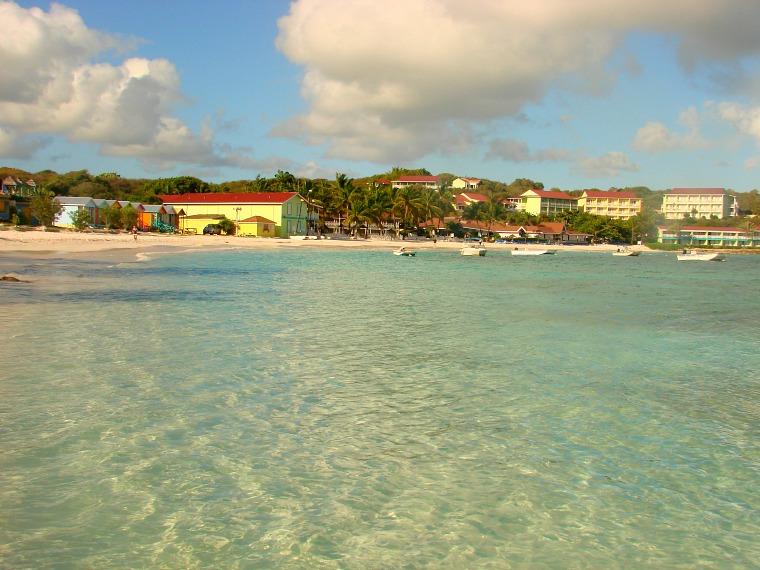 A beach resort in Antigua