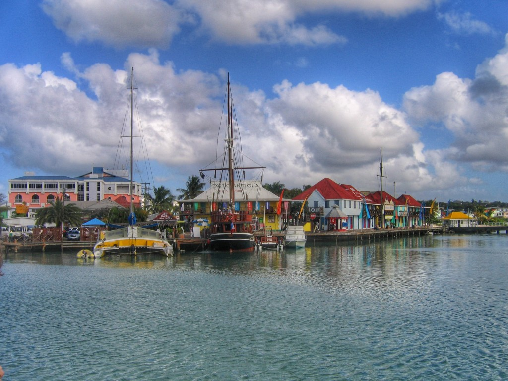 The port in St. Johns, Antigua
