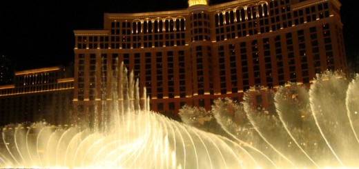 Fountains at the Bellagio.