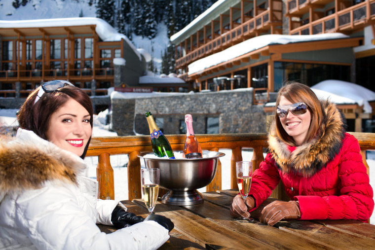 Mad Trapper's Spring Patio_Sunshine Village Ski Resort