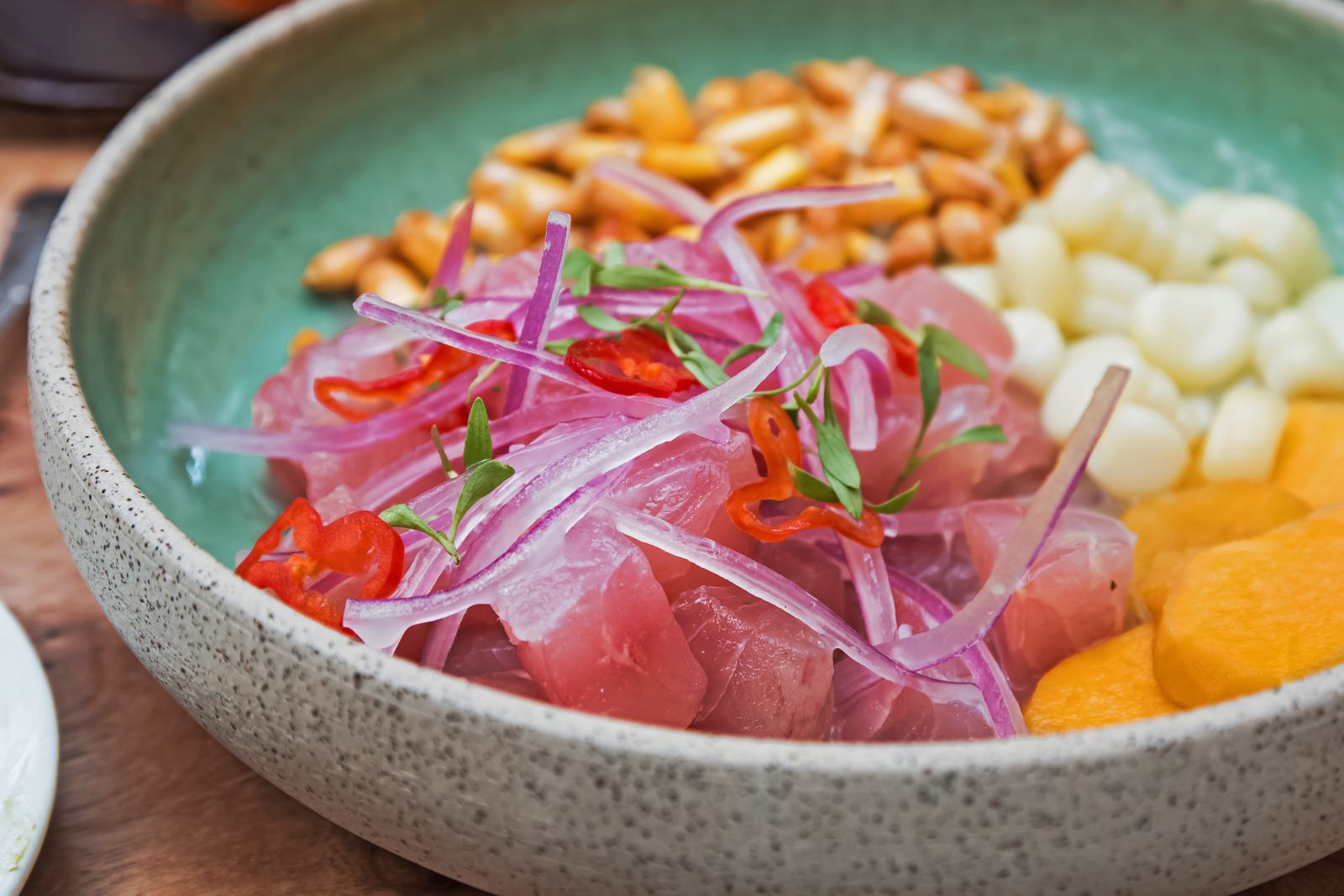 Popular Peruvian food, ceviche