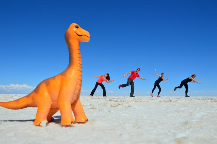Perspective photos in the Salt Flats.