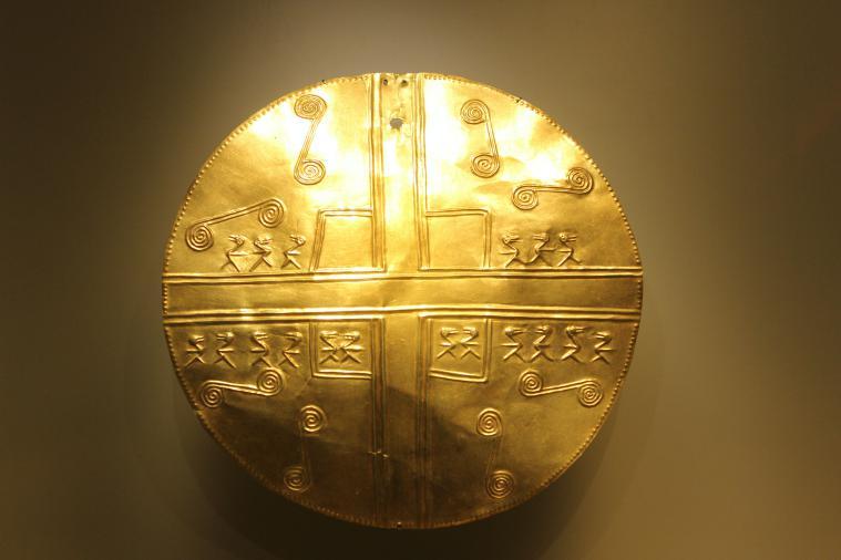 A piece at the Museum del Oro in Bogota