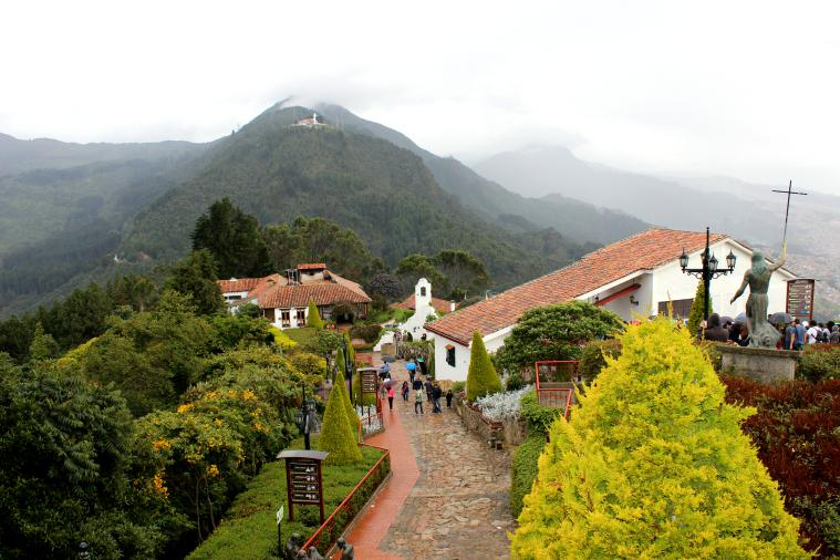 The top of Monserrate.