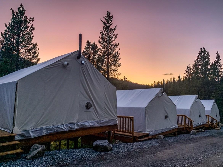 Glamping at Mount Engadine Lodge in Kananaskis, Alberta