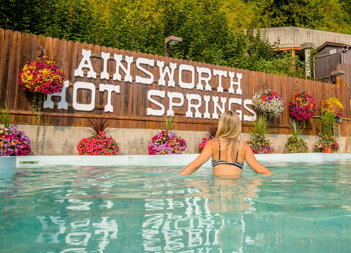 Ainsworth Hot Springs in the Kootenays bc