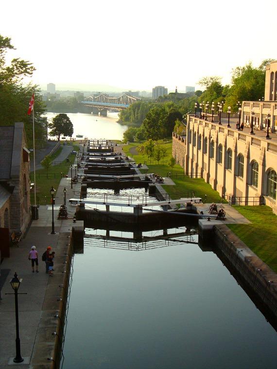 The Rideau Canal in Ottawa.