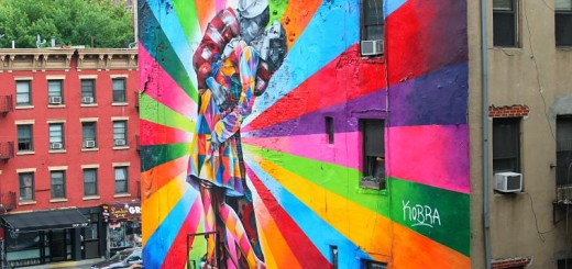 The High Line in New York City. art