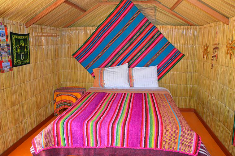 Our room on the reed islands. uros