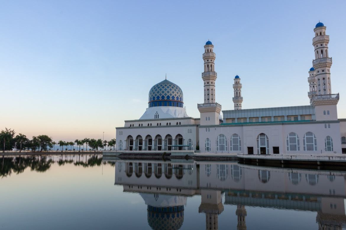 A day light image of the famous Kota Kinabalu City Mosque in Sabah Borneo Malaysia