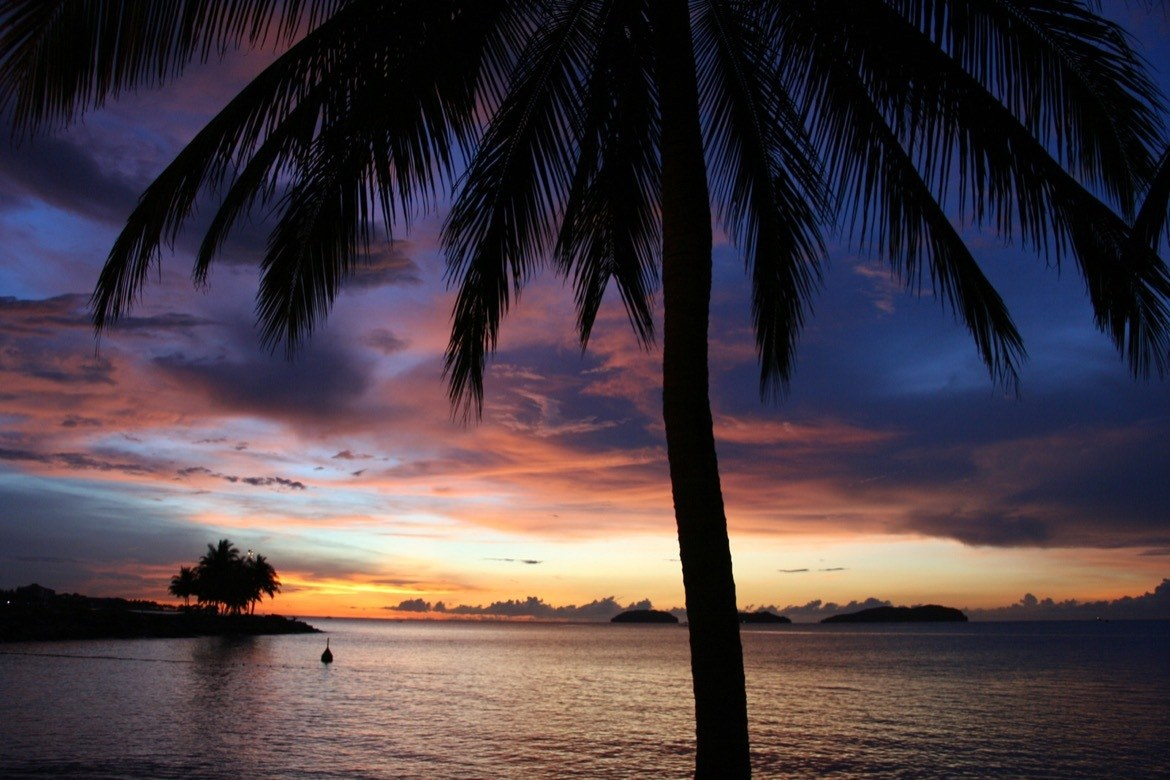 Sunset at Kota Kinabalu, Island of Borneo