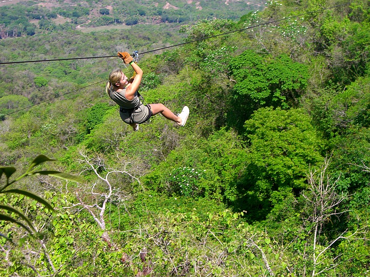 A canopy zip lining tour is one of the fun things to do in Puerto Vallarta, Mexico