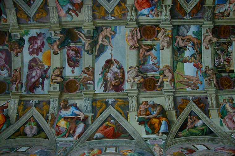 The famous roof of the Sistine Chapel.