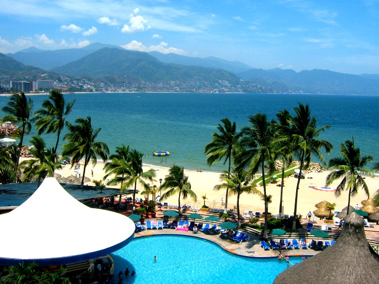 A beach resort in Puerto Vallarta, Mexico