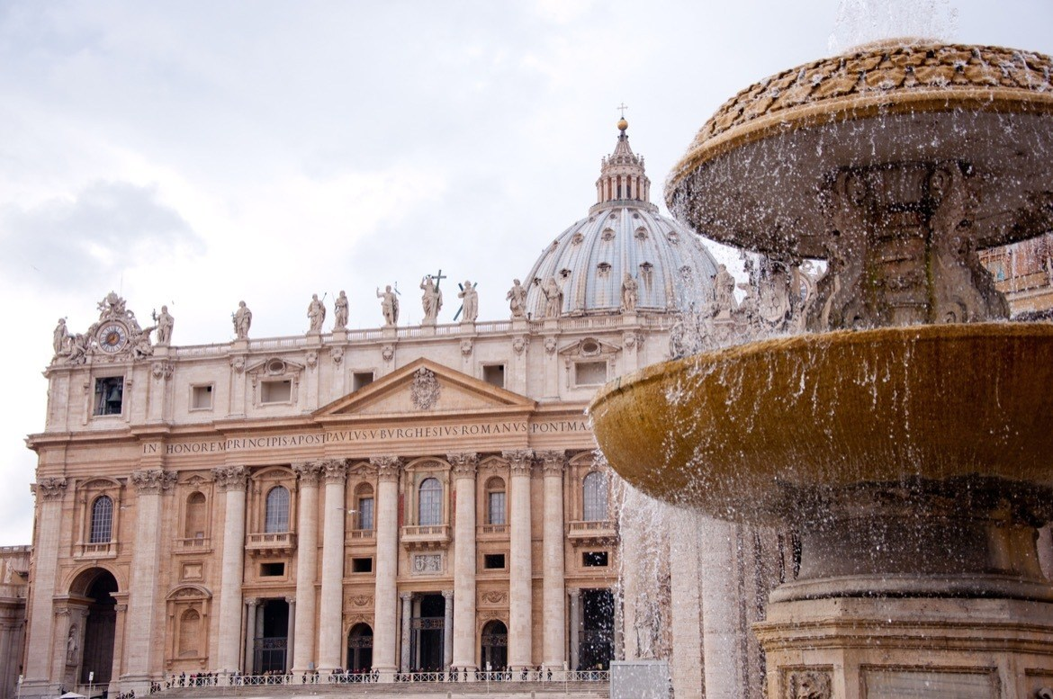 Visiting the Vatican in Rome, Italy