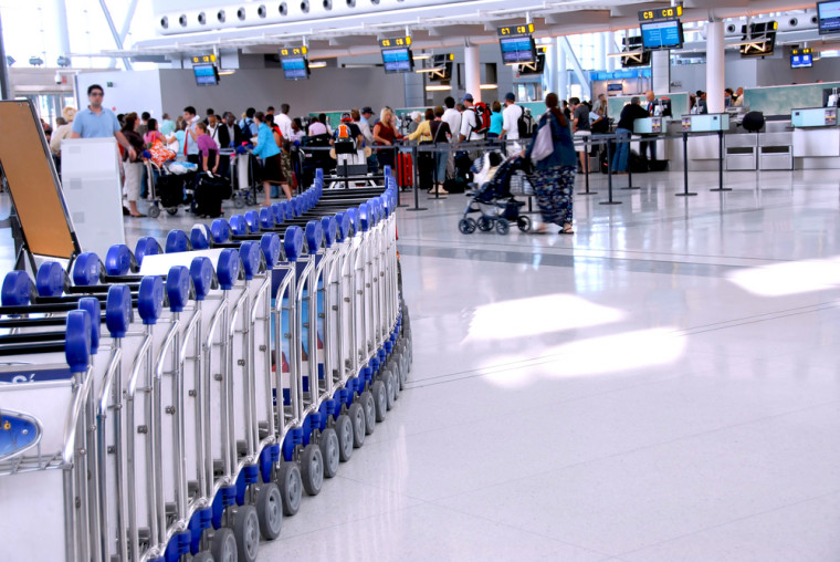 An airport terminal. Courtesy of Shutterstock.