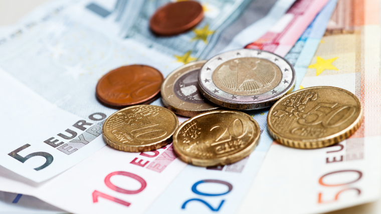 Euros, courtesy of Shutterstock.