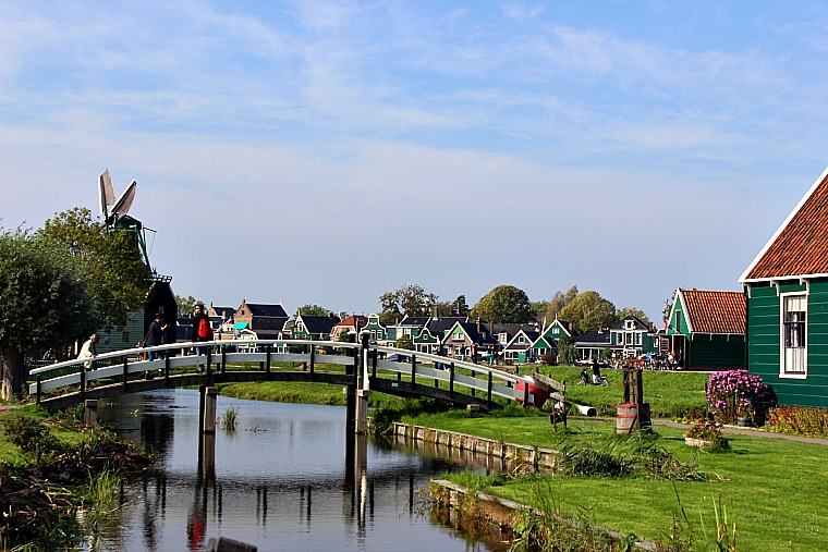 Zaanse Schans, Netherlands. bridge