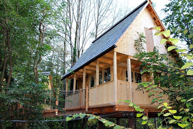 A tree house at Garden Village. slovenia