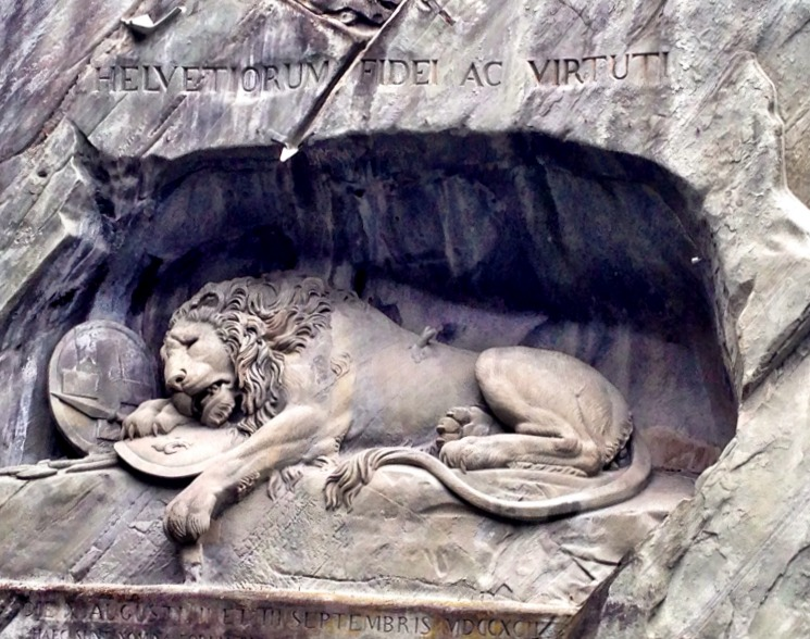Lucerne, Switzerland. Lion Monument. Lucerne, Switzerland.