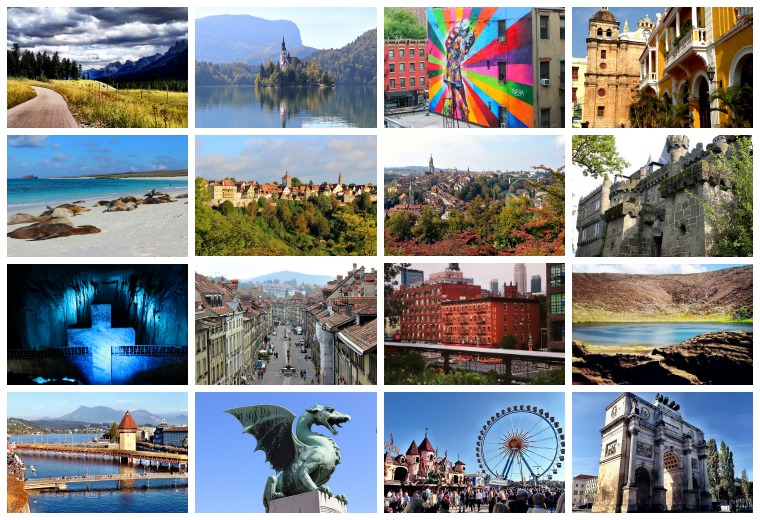 2014 travel collage