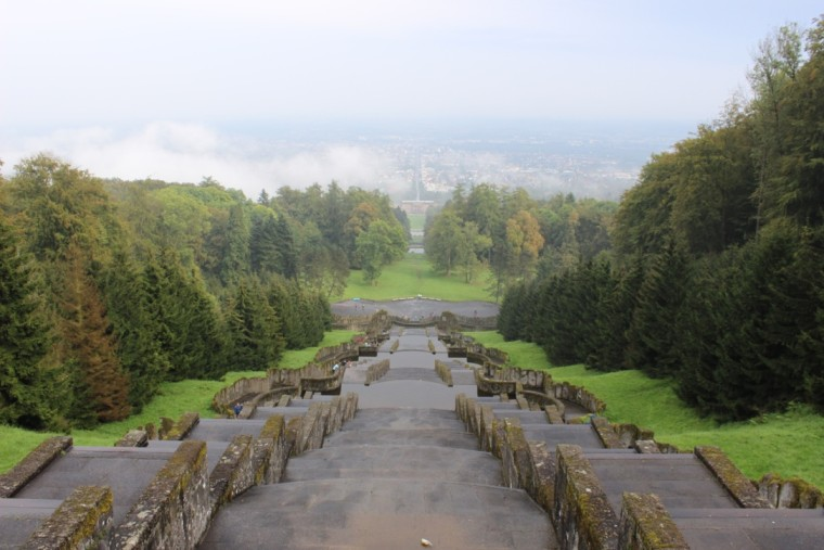A foggy day in Wilhelmshöhe Park. kassel, germany