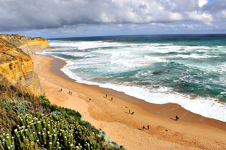 Gibsons Steps, a stop along the great ocean road in Australia