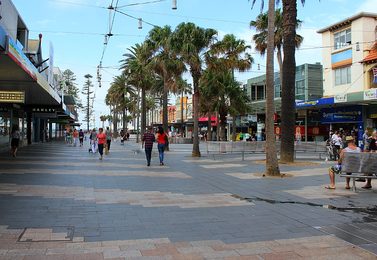The Corso in the town of Manly Beach, Australia