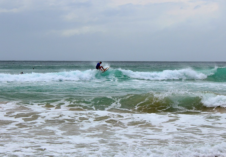 A surfer in Manly Beach, Sydney