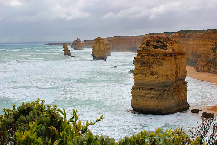 The Twelve Apostles along the Great Ocean Road in Australia