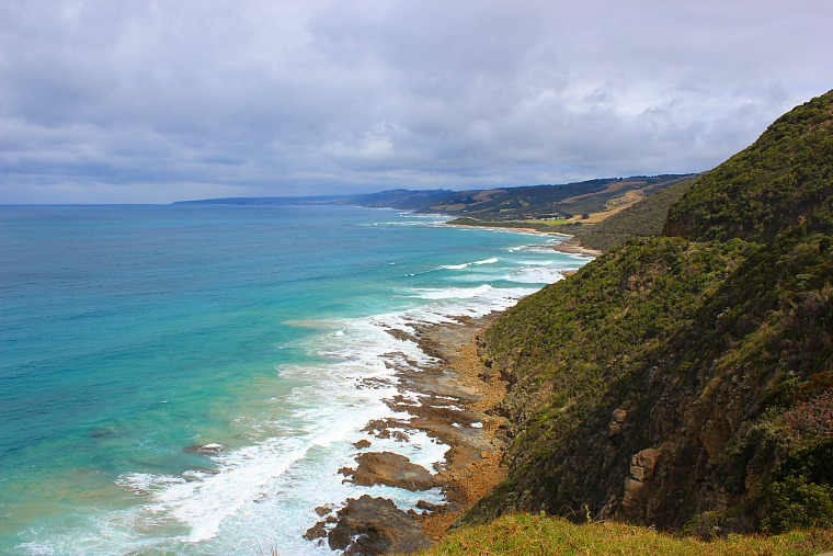Cape Patton viewpoint along the great ocean road in Australia