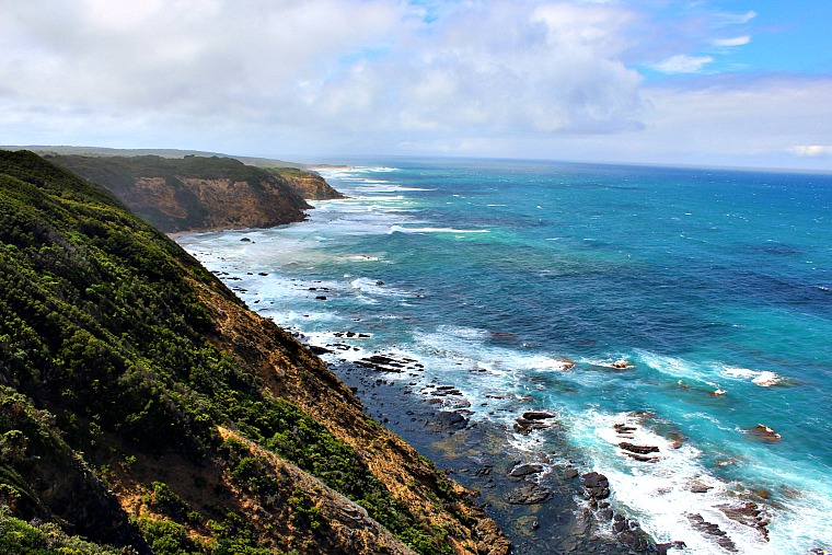 The view from Cape Otway Lightstation along the great ocean road in australia