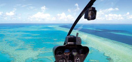 A scenic flight over the Whitsundays, Australia