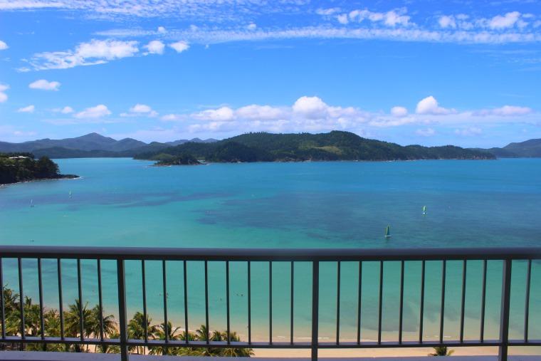 The amazing view from Whitsunday Apartments. Things to do on Hamilton Island Australia